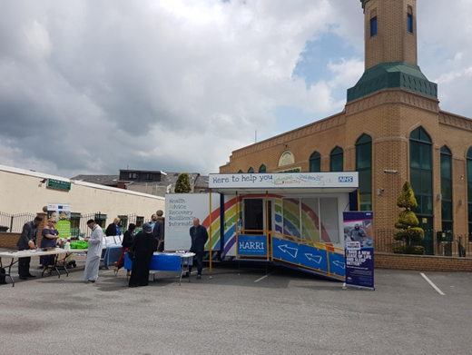 Photo of the HARRI health and wellbeing engagement vehicle