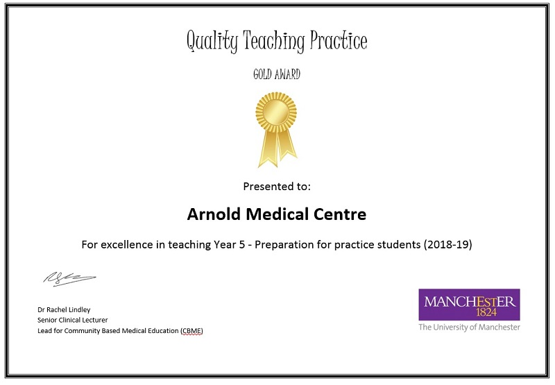 Quality Teaching Practice GOLD AWARD